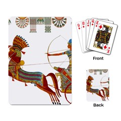 Egypt Egyptian Pharaonic Horses Playing Cards Single Design by Sapixe