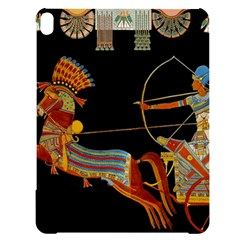 Egypt Egyptian Pharaonic Horses Apple Ipad Pro 12 9   Black Uv Print Case