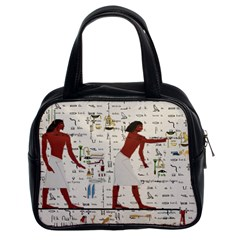 Egyptian Design Men Worker Slaves Classic Handbag (two Sides) by Sapixe