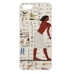 Egyptian Design Men Worker Slaves Iphone 5 Seamless Case (white) by Sapixe