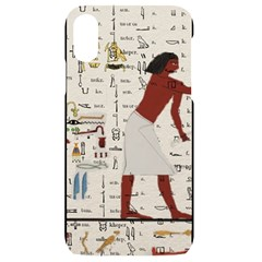 Egyptian Design Men Worker Slaves Iphone Xr Black Uv Print Case