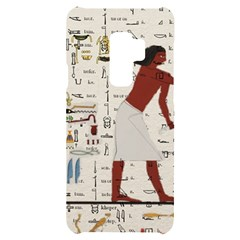 Egyptian Design Men Worker Slaves Samsung S9 Plus Black Uv Print Case