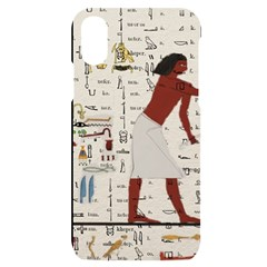 Egyptian Design Men Worker Slaves Iphone X/xs Black Uv Print Case