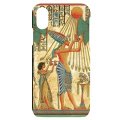Egyptian Man Sun God Ra Amun Iphone X/xs Black Uv Print Case
