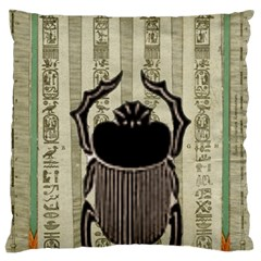 Egyptian Design Beetle Standard Flano Cushion Case (one Side) by Sapixe
