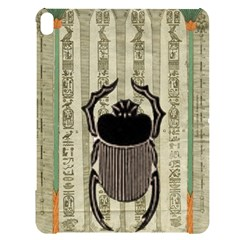 Egyptian Design Beetle Apple Ipad Pro 12 9   Black Uv Print Case