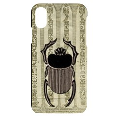 Egyptian Design Beetle Iphone X/xs Black Uv Print Case