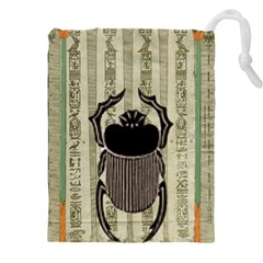 Egyptian Design Beetle Drawstring Pouch (xxxl)