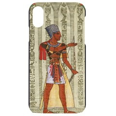 Egyptian Design Man Royal Iphone Xr Black Uv Print Case
