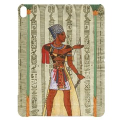 Egyptian Design Man Royal Apple Ipad Pro 12 9   Black Uv Print Case