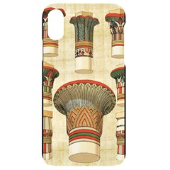 Egyptian Architecture Column Iphone Xr Black Uv Print Case