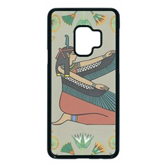 Egyptian Woman Wings Design Samsung Galaxy S9 Seamless Case(black) by Sapixe