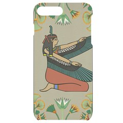 Egyptian Woman Wings Design Iphone 7/8 Plus Black Uv Print Case