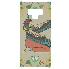 Egyptian Woman Wings Design Samsung Note 9 Black Uv Print Case