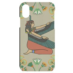 Egyptian Woman Wings Design Iphone X/xs Black Uv Print Case