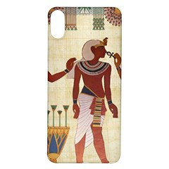 Egyptian Design Man Woman Priest Iphone X/xs Soft Bumper Uv Case