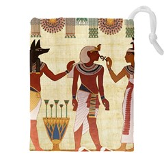 Egyptian Design Man Woman Priest Drawstring Pouch (xxxl)