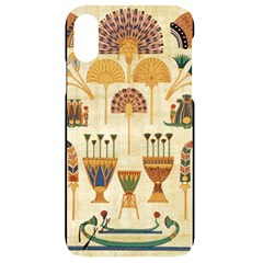 Egyptian Paper Papyrus Hieroglyphs Iphone Xr Black Uv Print Case