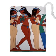 Egypt Fresco Mural Decoration Drawstring Pouch (xxxl)
