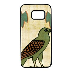 Egyptian Paper Papyrus Bird Samsung Galaxy S7 Black Seamless Case by Sapixe