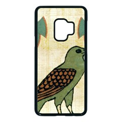 Egyptian Paper Papyrus Bird Samsung Galaxy S9 Seamless Case(black) by Sapixe