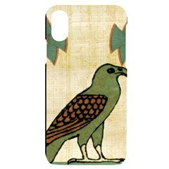 Egyptian Paper Papyrus Bird Iphone X/xs Black Uv Print Case by Sapixe