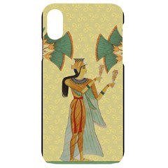 Egyptian Design Man Artifact Royal Iphone Xr Black Uv Print Case