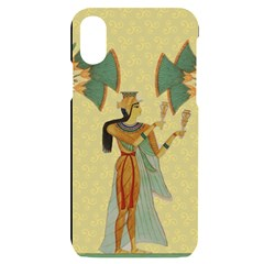 Egyptian Design Man Artifact Royal Iphone X/xs Black Uv Print Case