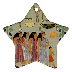 Egyptian Paper Women Child Owl Ornament (star) by Sapixe