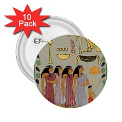 Egyptian Paper Women Child Owl 2 25  Buttons (10 Pack)