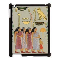 Egyptian Paper Women Child Owl Apple Ipad 3/4 Case (black) by Sapixe