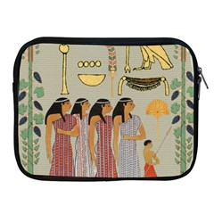 Egyptian Paper Women Child Owl Apple Ipad 2/3/4 Zipper Cases by Sapixe