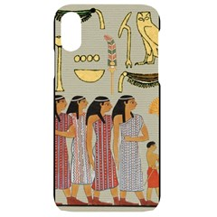 Egyptian Paper Women Child Owl Iphone Xr Black Uv Print Case