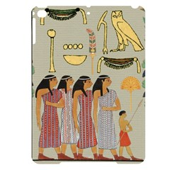Egyptian Paper Women Child Owl Apple Ipad Pro 9 7   Black Uv Print Case