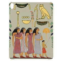 Egyptian Paper Women Child Owl Apple Ipad Pro 12 9   Black Uv Print Case