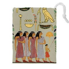 Egyptian Paper Women Child Owl Drawstring Pouch (xxxl)