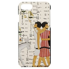 Egyptian Design Men Worker Slaves Iphone 7/8 Black Uv Print Case