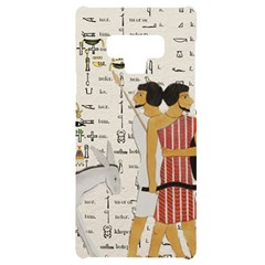 Egyptian Design Men Worker Slaves Samsung Note 9 Black Uv Print Case