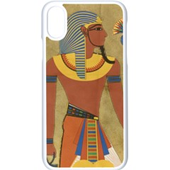 Egyptian Tutunkhamun Pharaoh Design Iphone Xs Seamless Case (white)