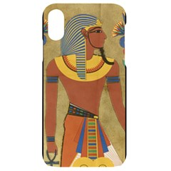 Egyptian Tutunkhamun Pharaoh Design Iphone Xr Black Uv Print Case