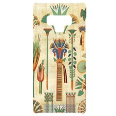 Egyptian Paper Papyrus Hieroglyphs Samsung Note 9 Black Uv Print Case