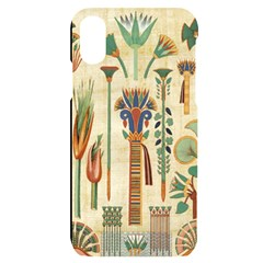 Egyptian Paper Papyrus Hieroglyphs Iphone X/xs Black Uv Print Case