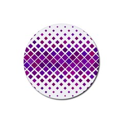 Pattern Square Purple Horizontal Rubber Coaster (round)
