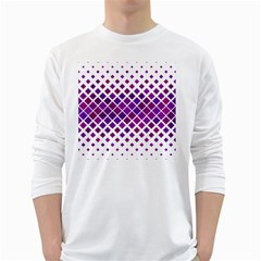 Pattern Square Purple Horizontal Long Sleeve T-shirt by HermanTelo