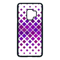 Pattern Square Purple Horizontal Samsung Galaxy S9 Seamless Case(black)
