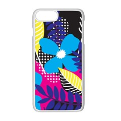 Pattern Leaf Polka Leaves Iphone 8 Plus Seamless Case (white)
