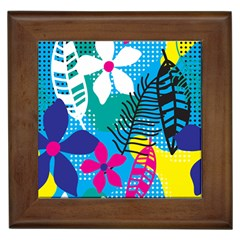 Pattern Leaf Polka Flower Framed Tiles