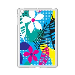 Pattern Leaf Polka Flower Ipad Mini 2 Enamel Coated Cases by HermanTelo