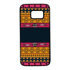 Pattern Ornaments Africa Safari Samsung Galaxy S7 Black Seamless Case by HermanTelo