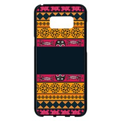 Pattern Ornaments Africa Safari Samsung Galaxy S8 Plus Black Seamless Case